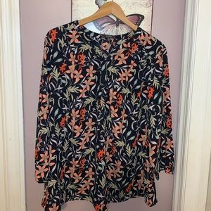 NYDJ FIT IS EVERYTHING BLOUSE SZ: 1X
